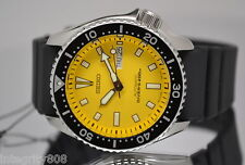 New Seiko SKXA35 Automatic Dive Urethane Strap Yellow Dial Men's Watch