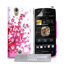 Accessories Sony Ericsson Xperia Ray Stylish Floral Design Silicone Case Cover