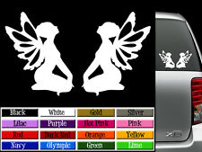 (2) FAIRY Silhouette Vinyl Decals - Auto Graphics or Wall Stickers - Any Color!
