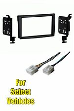 Double Din Stereo Radio Install Dash Trim Car Face Kit Combo for 00-01 Mazda MPV