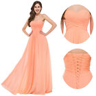 Plus Size Long Chiffon Bridesmaid Evening Prom Formal Wedding Gown Party Dresses