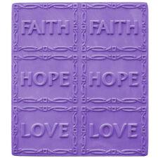 Faith Hope Love Soap Mold Melt Pour Cold Process Clear PVC Milky Way instruction
