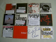 THE SUBWAYS job lot of 12 promo CD album/singles Girls & Boys With You Oh Yeah