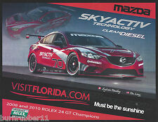 2013 SYLVAIN TREMBLAY & TOM LONG #70 SKYACTIV GRAND AM ROLEX SERIES POSTCARD