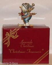 NEW  Miniature Jewel SnowMan SKIER TRINKET BOX Christmas Treasures Blue LP2216
