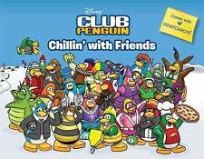 NEW! CHILDREN'S book DISNEY CLUB PENGUIN Chillin' with Friends w/ 4 postcards