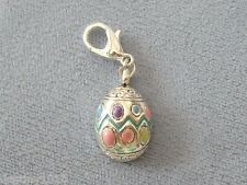 Easter EGG  Dangle Charm 12mm lobster clip claw clasp Fits Bracelet NEW 98