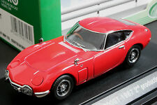 Ebbro 43105 1:43 scale Toyota 2000 GT (1967) Die Cast Model Car Red