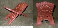 """Book Stand Leaf design NEW small carved wood Book accessory 11.6oz 9.75"""" x 4.60"""""""