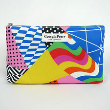 New! Clinique Georgia Perry Cosmetic Makeup Bag Zipper Pouch