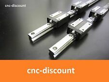 CNC Set 25 x 800mm 2x Linearführung + 4x Linearwagen orange Linear Guide Welle
