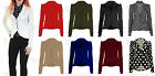 New Ladies Jacket Coat Full Sleeves 5 Buttons Womens Blazer Top Size 8 10 12 14