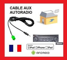Cable AUX auxiliaire mp3 autoradio RENAULT UDAPTE LIST 6 pin clio scenic kango1