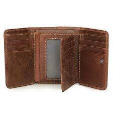 Men's RFID Blocking Leather Trifold Wallet Credit Card Holder Secure ID Window