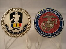 Combat Action Ribbon USMC Challenge Coin United States Marine Corps Military CAR