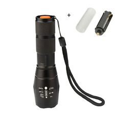 8000 Lumen Tactical Flashlight T6 Cree Led XML Military Torch Zoomable X800 G700