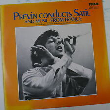"12"" LP record PREVIN CONDUCTS SATIE and music from france LSB 4094"