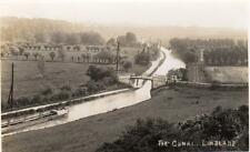 Grand Union Canal Linslade Nr Leighton Buzzard RP old pc used 1930's