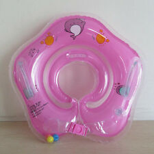 Pink Newborn Infant Baby Swimming Neck Float Ring Bath Circle Toy Safe Wholesale