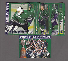 PLYMOUTH WHALERS 2007 MEIJER 15 CARD PLAYER SET CHAMPIONS !