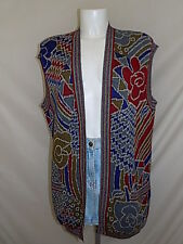 MISSONI SPORT GILET VEST WOMAN DONNA SLEEVELESS PULLOVER MAGLIONE 44 ITALY R89