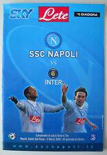 CALCIO PROGRAMMA SSC NAPOLI VS INTER - CAMP. 2007/08 2 MARZO 2008