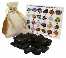 Black Tourmaline Rough Natural Stones 1 Lb (.5 Kg) Bulk Reiki Chakra Healing Cry