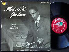 MILT JACKSON Meet Milt Jackson LP SAVOY MG 12061 US 1956 RVG MONO Walter Bishop