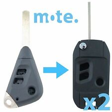 2 x Subaru Liberty Impreza Outback Remote Car Flip Key Blank Shell/Case/Fob