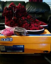 Radii Straight Jacket VLC Mens Red Leopard High Top Sneakers Shoes sz 9 M 21764