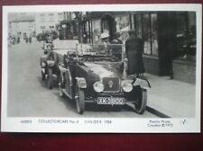 POSTCARD CAR SINGER CAR C1924