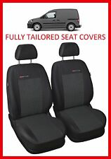 Volkswagen Caddy Van 1+1 FULLY TAILORED SEAT COVERS (2003 - on)  - PATTERN 1