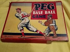 MUST SEE Vtg 1930s Peg Base Ball Game Parker Brothers 3 RARE DICE OUT HIT BASE