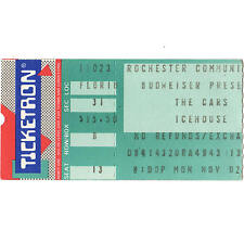 THE CARS & ICEHOUSE Concert Ticket Stub ROCHESTER NY 11/2/87 DOOR TO DOOR TOUR