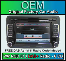 VW Passat DAB + Car Stereo, RCD 510 DAB + Radio 6 caricatore CD, Touchscreen Scheda SD