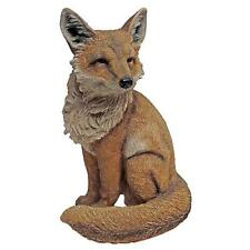 British Fox Statue Lawn Yard Art Decor Outdoor Garden Statuary Wild Foxes Resin