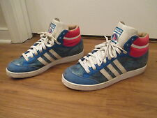 Used Worn Size 11 Adidas Americana Snakeskin Hi Shoes Blue Red White