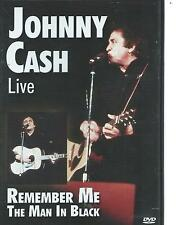 DVD - JOHNNY CASH - REMEMBER ME / THE MAN IN BLACK in CONCERT / LIVE