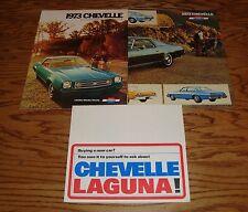 Original 1973 Chevrolet Chevelle Sales Brochure Lot of 3 73 Chevy Malibu SS