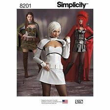 Simplicity 8201 Sci-Fi Superhero Cosplay Costumes, Sewing Pattern.  Size 6/14