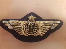 INSIGNE globe AILE DE POITRINE COMPAGNIE AERIENNE- Airline Pilot Wings 221