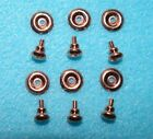 1:12 Scale Dollhouse Victorian Aged Brass Knobs w/Back plates 3 pairs