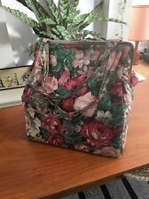 Vintage Floral Box Bag With Purse Clip Fastening