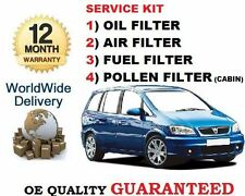 FOR VAUXHALL ZAFIRA 2.0TD 81BHP 1999-2005 OIL AIR FUEL POLLEN FILTER SERVICE KIT