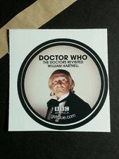 DOCTOR WHO DOCTORS REVISITED WILLIAM HARTNELL BBC B&W GET GLUE GETGLUE STICKER