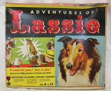 Rare Vintage Adventures of Lassie Board Game TV Show Collie Dog 1955