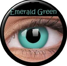 Crazy Contact Lens Lentilles Kontaktlinsen Fun Emerald green Grün Vert Fairy UK