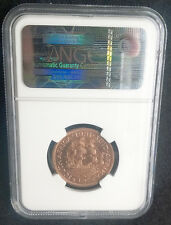 South Africa 1951 Half Penny 1/2p 1/2d Proof PF63 RB - NGC