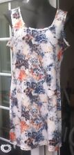 PUSSYCAT MULTI COLOURED FLORAL SLEEVELESS SHORT DRESS OR DRESS TOP - SIZE L