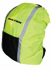 NEW BIKETEK REFLECTIVE WATERPROOF RUCKSACK BACKPACK COVER HI-VIS - CYCLE BICYCLE